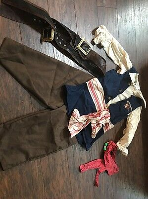 DISNEY PARKS Jack Sparrow Pirates of the Caribbean Costume NEW - Sz Small