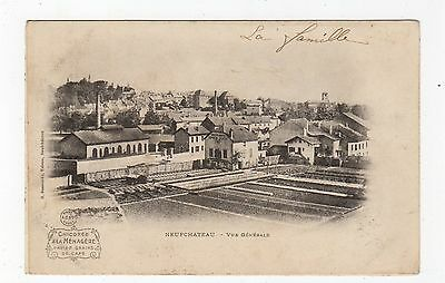 CPA - NEUFCHATEAU - Vue Generale: France Chocolate Advertising postcard (JH2053)