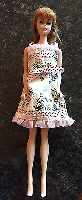 Vintage Midge Barbie 60's Long Hair Redhead Painted Nails Makeup With Dress Rare