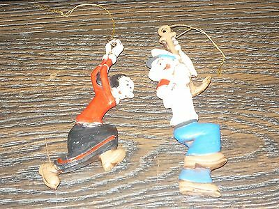 Vintage 1975 KING FEATURE SYNDICATE  Popeye & Olive Oil  Ornaments