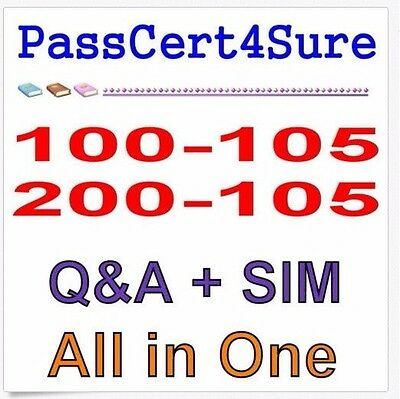 Cisco Best Practice Material For 100-105 200-105 ICND1 ICND2 CCENT CCNA Exam Q&A