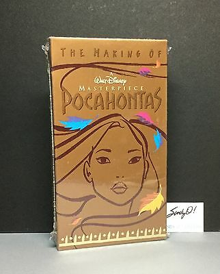 "Vintage Disney VHS / THE MAKING OF A MASTERPIECE ""POCAHONTAS""/ New (Rare)"