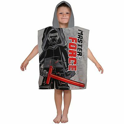 Lego Star Wars Seven Hooded Poncho Towel Childrens Boys 100% Cotton Official