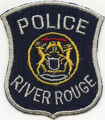 old vintage RIVER ROUGE MICHIGAN MI POLICE PATCH