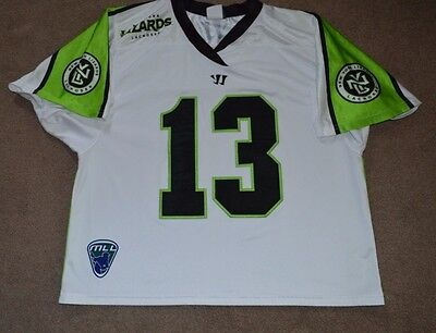 Stephen Berger NY Lizards Game Worn Lacrosse Jersey MLL Photomatched Long Island