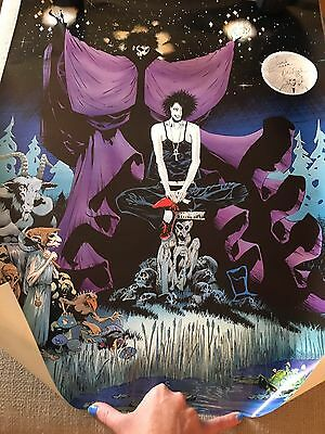 Sandman And Death Endless Poster Neil Gaiman Signed Rare