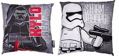 Lego Star Wars Seven Canvas Cushion Filled 2 Designs Stormtrooper + Kylo Ren