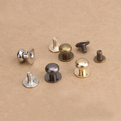 Sam Browne Screws Studs Round Head Button Rivet for Leather Craft 4/5/6/8mm