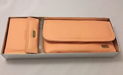 Sasson Wallet Bundle (Checkretary & Mini Planner) Peach - NOS - 1988/1989