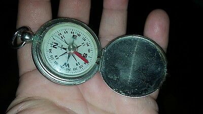 Vintage Pocket Compass Made In Japan Look!