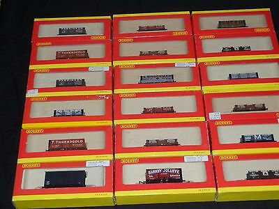 Hornby lot of 18 Mint in Box rail road cars 00 Gauge