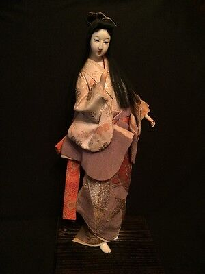 Amazing! Antique Japan Shirokiya Geisha Gofun Doll Warrior Kimono