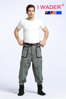 IWADERWAIST   SUPER STRETCH BREATHABLE waterproof fishing waders free shipping
