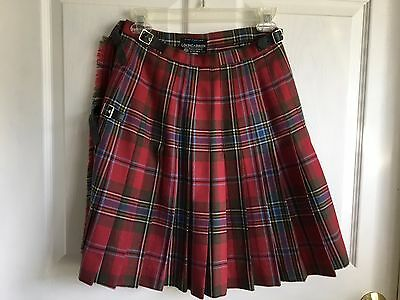 Ladies Kilt, MacLean of Duart Tartan, Made in Scotland, 100 % Wool, Lochcarron