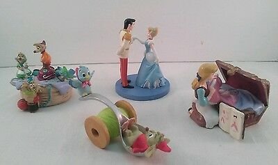 The Disney Store Lil Classics Cinderella Lot Of 4 Figurines