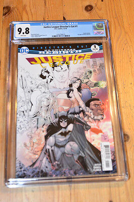 Justice League Director's Cut #1 CGC 9.8 NM/MT, White, top census!