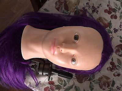 """25"""" Long Hairdressing Salon Cosmetology Practice Head Hair Mannequin+Clamp Gift"""