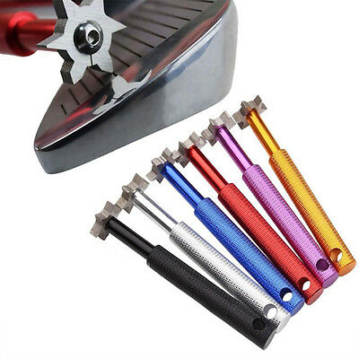 Golf Club Groove Sharpener Cleaning Tool Wedge Sharpening Cutter Golf Accessory
