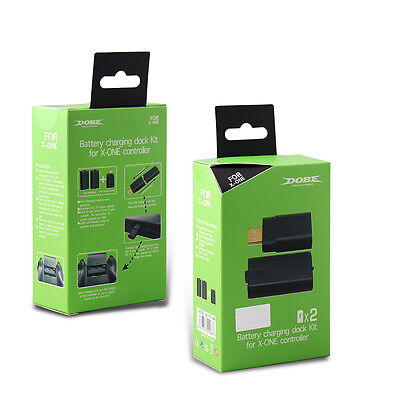 Rechargeable Battery Charging Charge Dock Kit For Xbox One Game Controller