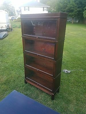 *ANTIQUE* Four Section Hale (Herkimer, NY) Vintage Barrister Style Bookcase