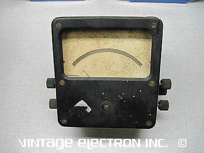 Old Vintage Bakelite Meter Case - (Moving Coil & Field Connections) READ AD!!