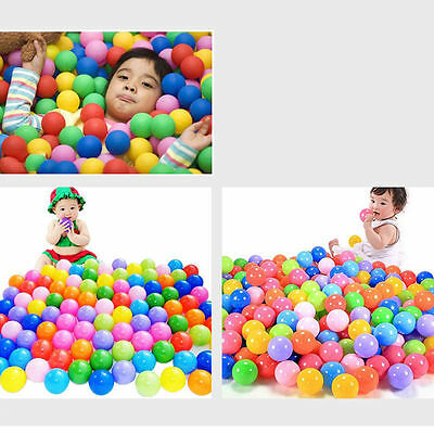 100pcs Secure Baby Kid Pit Toy Swim Fun Colorful Soft Plastic Ocean Ball Goods