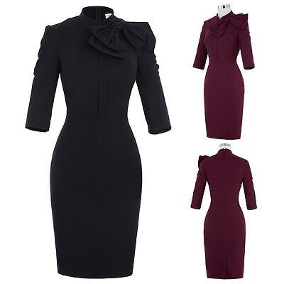 Womens Formal Vintage 1940s 50s Dresses Ladies EVENING Party Wiggle Pencil Dress