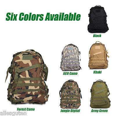 40L 3D Outdoor Molle Army Military Tactical Backpack Camping Rucksack Bag Colors