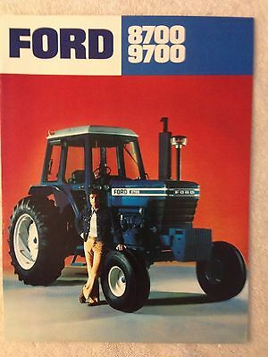 Vintage Ford 8700 9700 tractor brochure advertising sales EXCELLENT condition