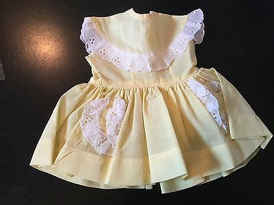 Doll Terri Lee Clothing Yellow  Dress tagged 1950's