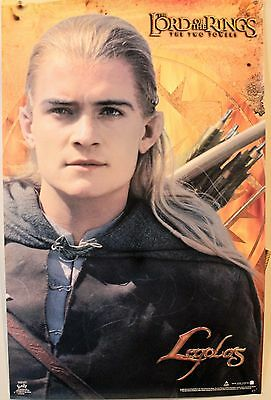 Vintage Lord Of The Rings Two Towers Movie Poster Legolas Orlando Bloom