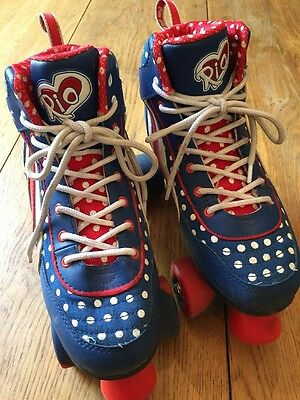 Rio Roller Skates Size UK 5 EUR 38 Red, White And Blue.