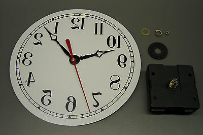 New Backwards Reverse Barbershop Clock Movement Kit With Dial & Hands