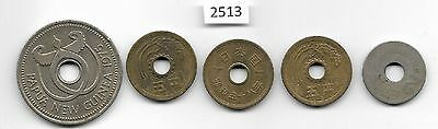 World x 4 Coins with Holes