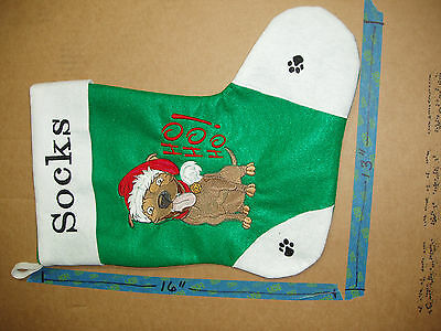 Handcrafted Embroidered Christmas Stocking PITBULL / CAN PERSONALIZE