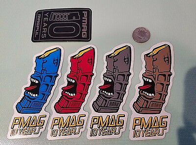 Magpul PMag 10 Years Vinyl Sticker Decal OEM Original ***LOT OF 5*** DEVGRU