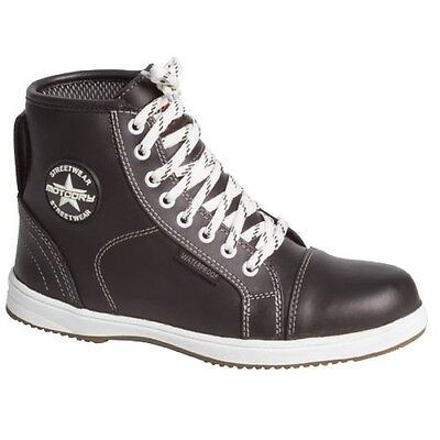 Motodry Urban Leather Ladies Casual Motorcycle Shoes Boots Black Sneaker Style