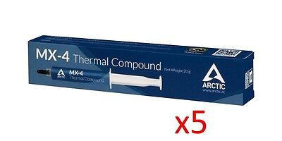 Lot of 5 Arctic Cooling MX-4 Thermal Compound 20g Tube © 2017 *CLEARANCE SALE*