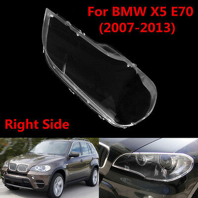 Right Headlight Lens Shell Cover Lampshade Lamp Cover For BMW 2008-2013 X5 E70