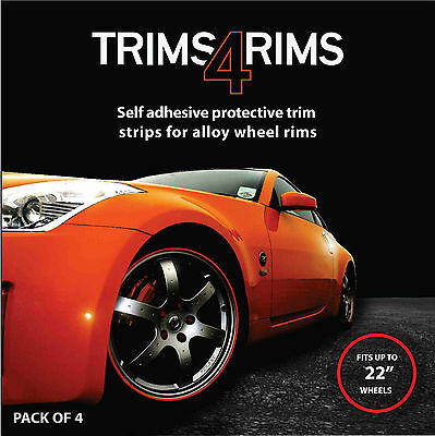 BLACK Trims4Rims by Rimblades-Alloy Wheel Rim Protectors/Rim Guards/Rim Tape