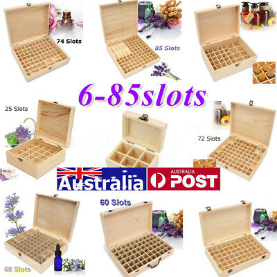 6-85 Slots Aroma Oil Essential Storage Wooden Container Box Case Organizer Bag