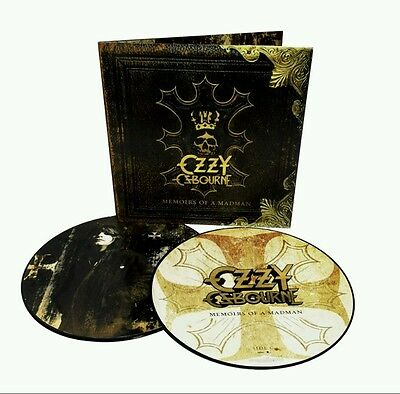 """Ozzy Osbourne """"memoirs Of A Madman"""" 2Lp Vinyl Limited Picture Disc 2014"""