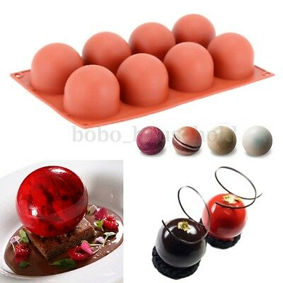Silicone Ball Shape Mousse Mold Mirror Cake Chocolate Baking Dessert Mould Pan