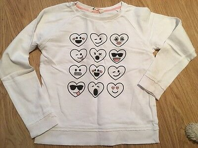 H&M Girls White  Jumper Top Age 10-12 Years