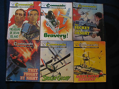 Commando Books x 6 From 1982