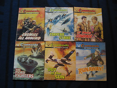 Commando Books x6 From 1982/83