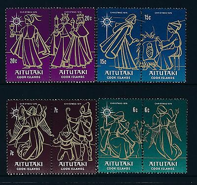 1976 Aitutaki Christmas Set Of 8 Fine Mint Mnh/muh