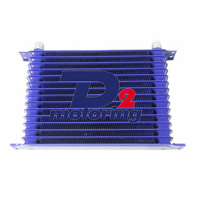 15Row 10An Powder-Coated Blue Aluminum Engine/transmission Oil Cooler