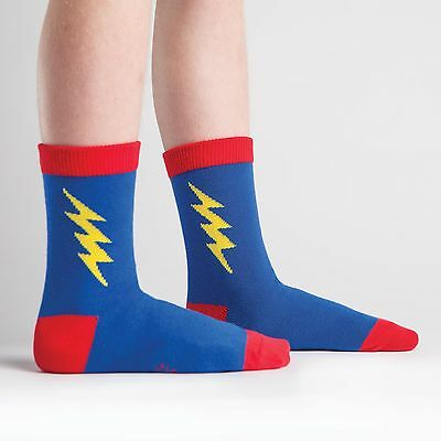 NEW Super Hero! Blue & Red Kids Funky Crew Socks