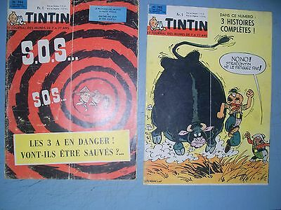 Tintin issues 794 and 795 from 1964 French comic